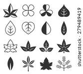 vector leaves icon set | Shutterstock .eps vector #279489419