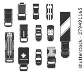 cars icons top view | Shutterstock .eps vector #279491165