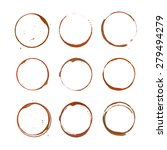 coffee ring stain for card ... | Shutterstock .eps vector #279494279