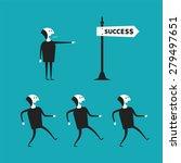 successful teamwork bitmap... | Shutterstock . vector #279497651