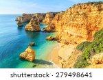 a view of a praia da rocha in...   Shutterstock . vector #279498641