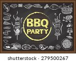 hand drawn icons about barbecue ...   Shutterstock .eps vector #279500267