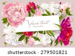 luxurious pink  red and white... | Shutterstock .eps vector #279501821