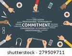 vector commitment concept ... | Shutterstock .eps vector #279509711