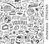 travel seamless vector... | Shutterstock .eps vector #279531965