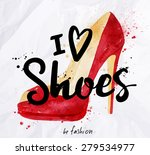 watercolor poster lettering i... | Shutterstock .eps vector #279534977