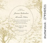 invitation card. classical... | Shutterstock .eps vector #279540521
