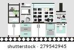 kitchen interior card. graphic... | Shutterstock .eps vector #279542945