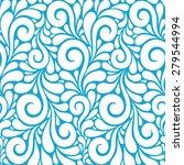 vector floral seamless pattern... | Shutterstock .eps vector #279544994