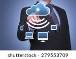 cloud domputing and wi fi... | Shutterstock . vector #279553709