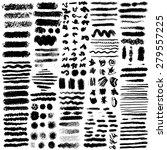 set of oil pastel brush strokes ...   Shutterstock .eps vector #279557225
