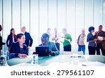 multiethnic group of people... | Shutterstock . vector #279561107