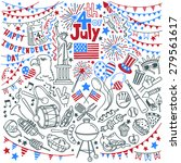 american independence day... | Shutterstock .eps vector #279561617