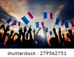 Group Of People Waving French...