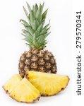 fresh pineapple isolated on... | Shutterstock . vector #279570341