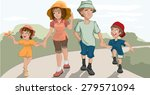 family walk in the park.... | Shutterstock .eps vector #279571094