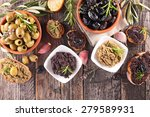 olive and tapenade | Shutterstock . vector #279589931