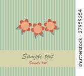 retro striped red and blue card ... | Shutterstock . vector #27959354