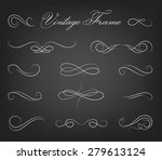 vintage elements and page... | Shutterstock .eps vector #279613124