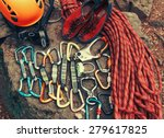 set of outfit for climbing... | Shutterstock . vector #279617825