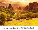 Stock photo meteora monasteries in greece 279624464