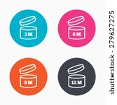 circle buttons. after opening... | Shutterstock .eps vector #279627275