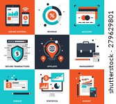 vector set of flat banking and... | Shutterstock .eps vector #279629801