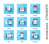 abstract vector set of flat and ...