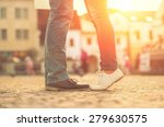 couples foots stay at the... | Shutterstock . vector #279630575