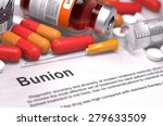 bunion   printed diagnosis with ... | Shutterstock . vector #279633509