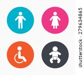 circle buttons. wc toilet icons.... | Shutterstock .eps vector #279634865