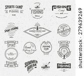 fishing badges logos and labels ... | Shutterstock .eps vector #279639269