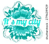 "logo ""it's my city"" with a long ... 