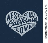 california love   hand crafted...   Shutterstock .eps vector #279647171