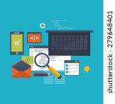 set of flat design vector... | Shutterstock .eps vector #279648401