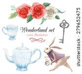 watercolor wonderland set. hand ... | Shutterstock .eps vector #279652475