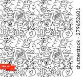 line art seamless pattern.... | Shutterstock .eps vector #279652601