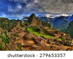 The machu picchu in hdr  ...
