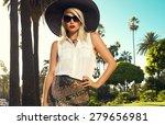 beautiful blonde young woman... | Shutterstock . vector #279656981