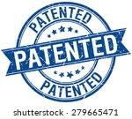 Patented Grunge Retro Blue...
