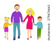 happy family father  mother ... | Shutterstock .eps vector #279676661