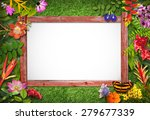 nature border with flower and... | Shutterstock . vector #279677339