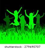 banner of happy people | Shutterstock .eps vector #279690707