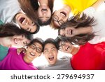 group of happy  young student ...   Shutterstock . vector #279694937
