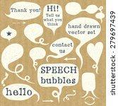 set of hand drawn speech... | Shutterstock .eps vector #279697439