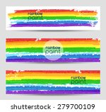set of vector banners with... | Shutterstock .eps vector #279700109