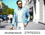 high fashion look.young stylish ... | Shutterstock . vector #279702521
