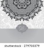 grey islamic vintage floral... | Shutterstock . vector #279703379
