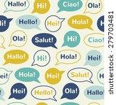 speech bubbles with greetings... | Shutterstock . vector #279703481