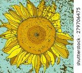 sunflower in the center | Shutterstock .eps vector #279706475